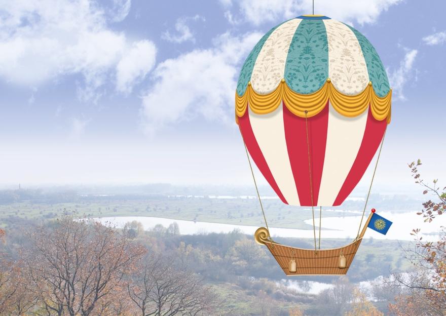 Ballonbouwplaat impressie - design: Ben Drost