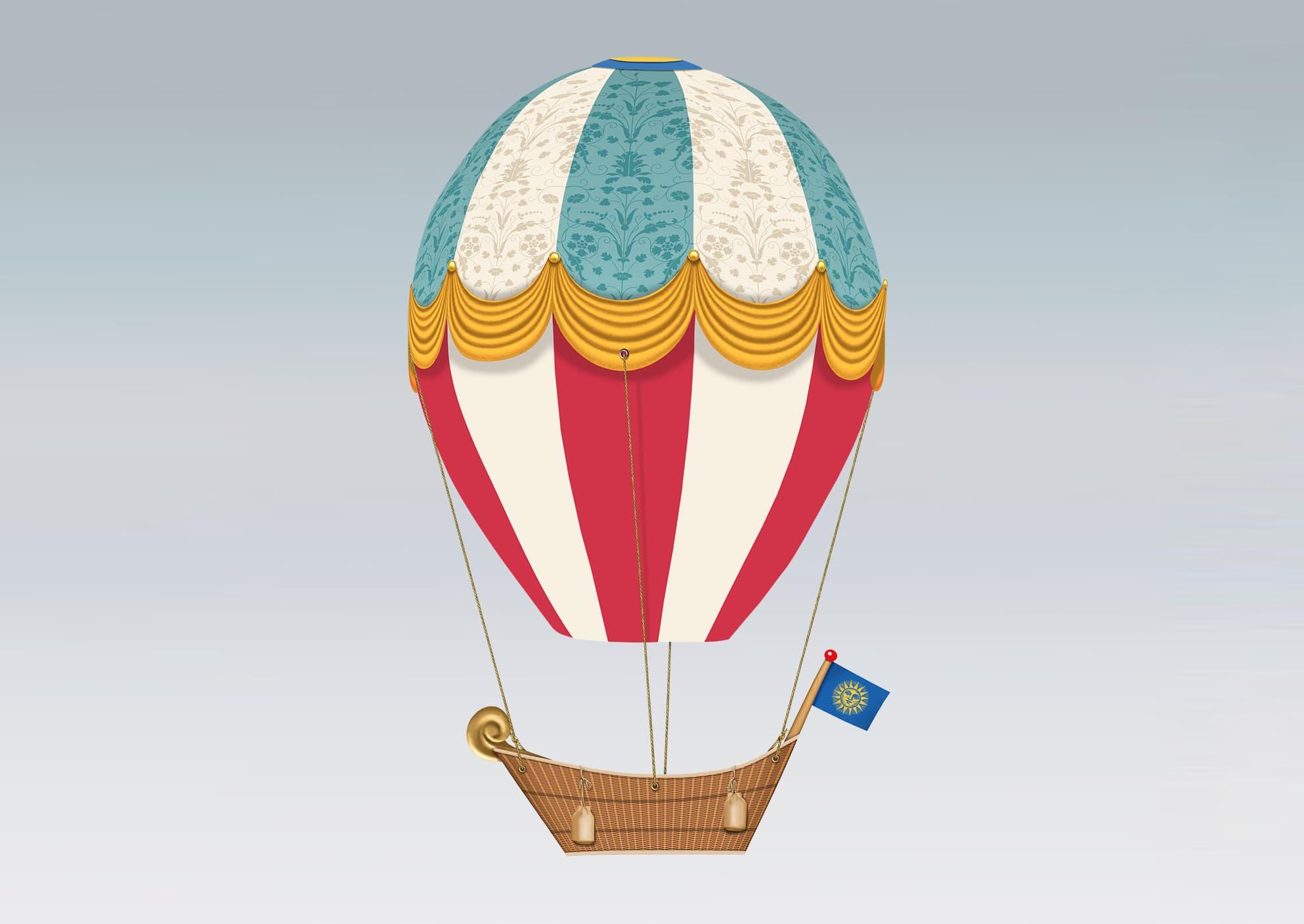 Droomballon bouwplaat eindresultaat
