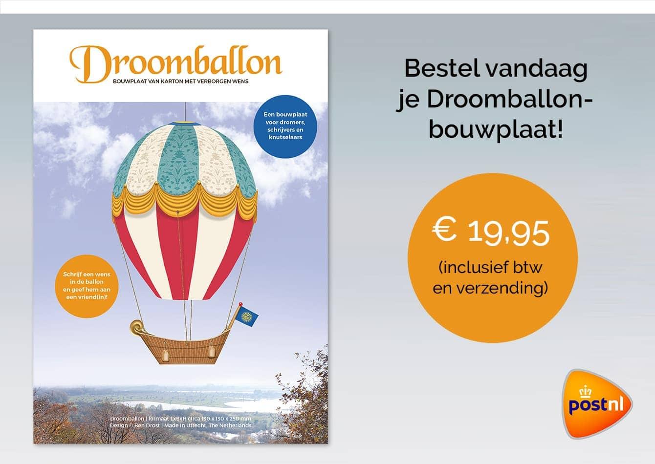 Droomballon bouwplaat prijsinformatie