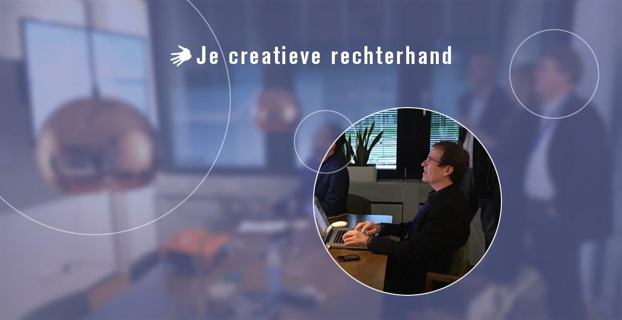 Ben Drost in actie als creatieve rechterhand in een creatief team