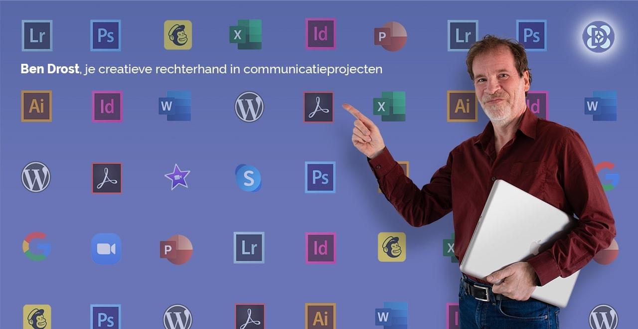 DTP grafische vormgeving reelance dtp-vormgever/designer Ben Drost te Utrecht
