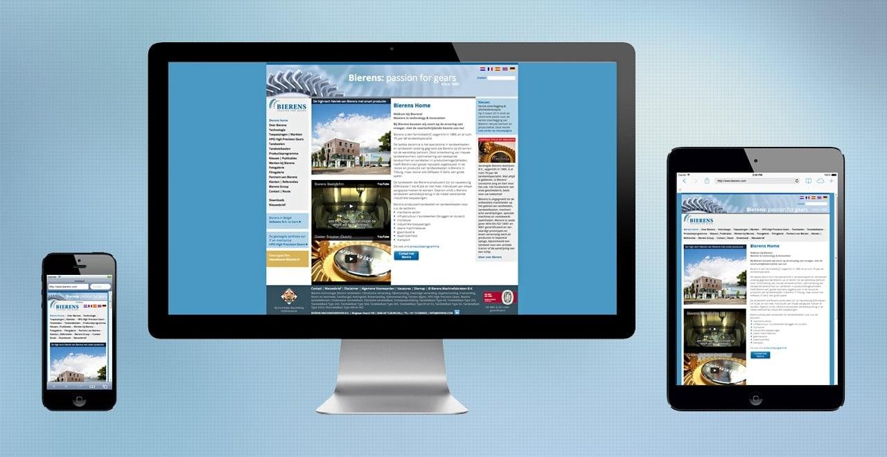 Bierens passion for gears | responsive webdesign portfolio Ben Drost