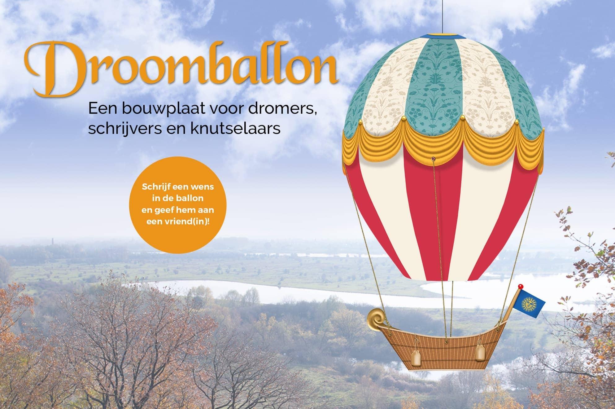 Droomballon bouwplaat ontwerp Ben Drost