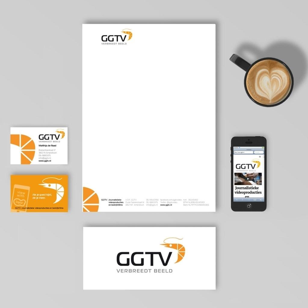GGTV huisstijlontwerp en webdesign