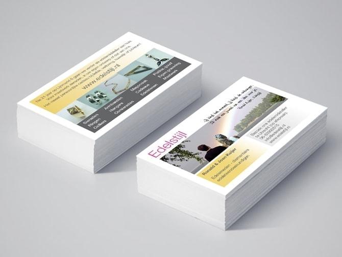 Edelstijl juwelen visitekaartjes huisstijl ontwerp Ben Drost