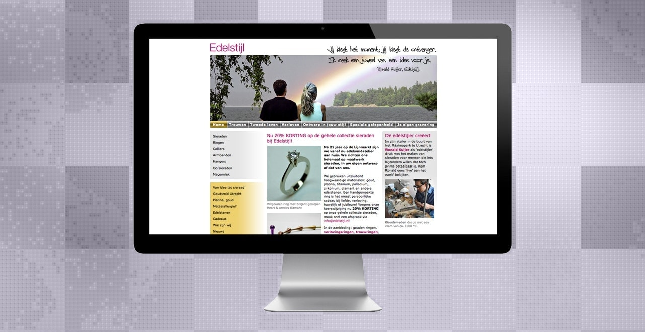 Edelstijl juwelen | webdesign portfolio Ben Drost