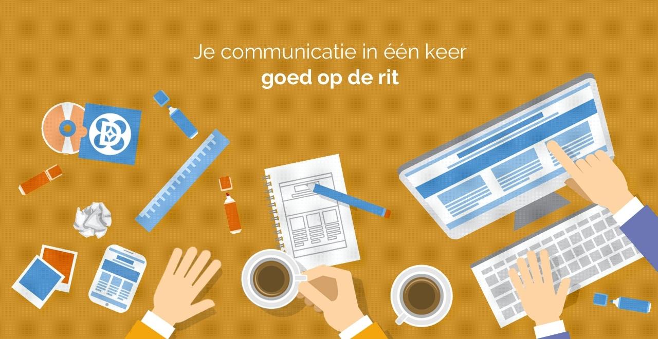 Flat design style grafische communicatie aanpak Ben Drost