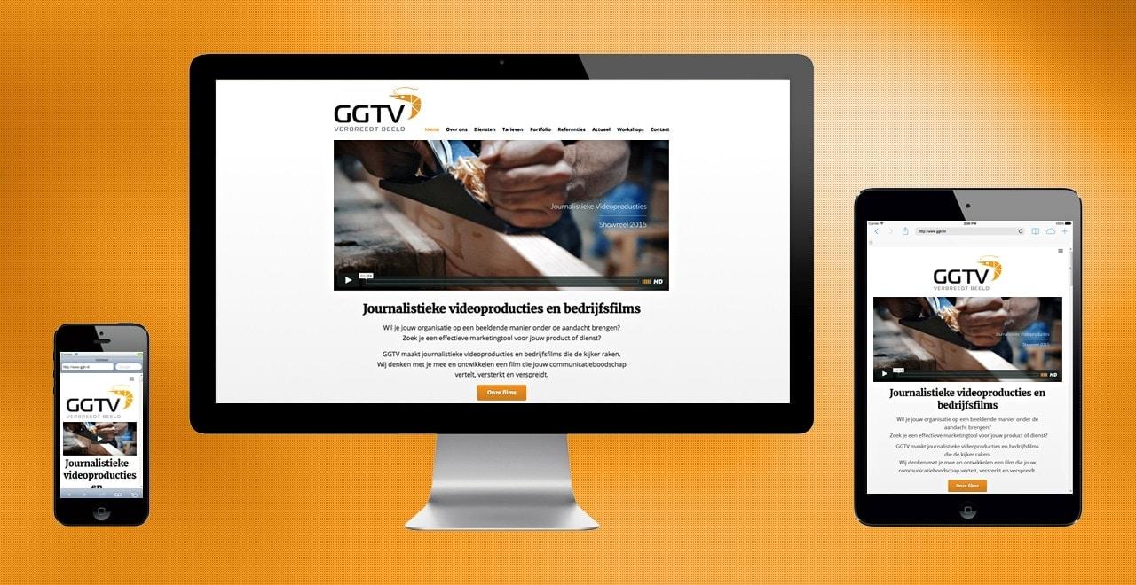 GGTV videoproducties responsive webdesign Ben Drost