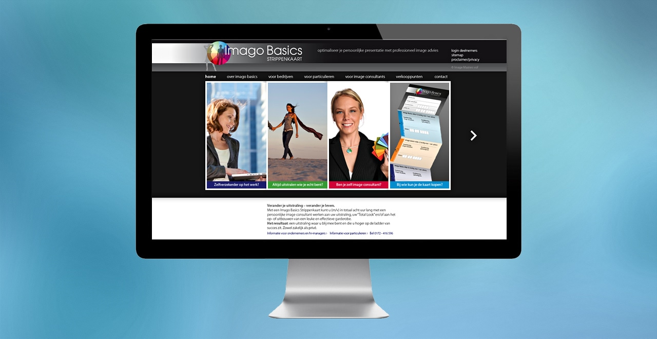 Imago Basics materialen voor image consultants | webdesign portfolio Ben Drost
