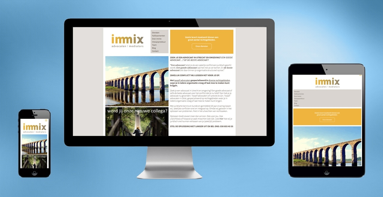 Immix advocaten - mediators | webdesign Ben Drost http://immix.nl