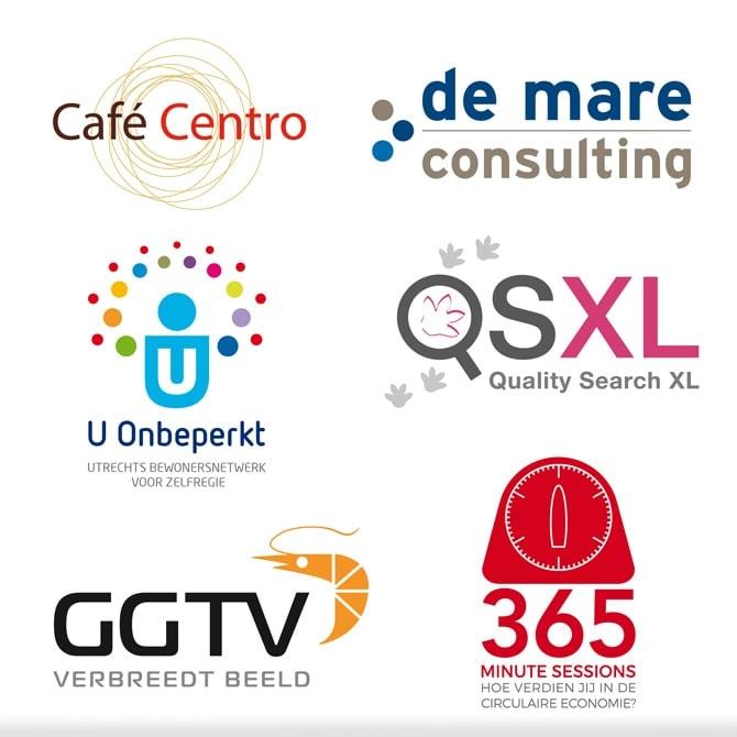Voorbeelden uit logo portfolio Ben Drost
