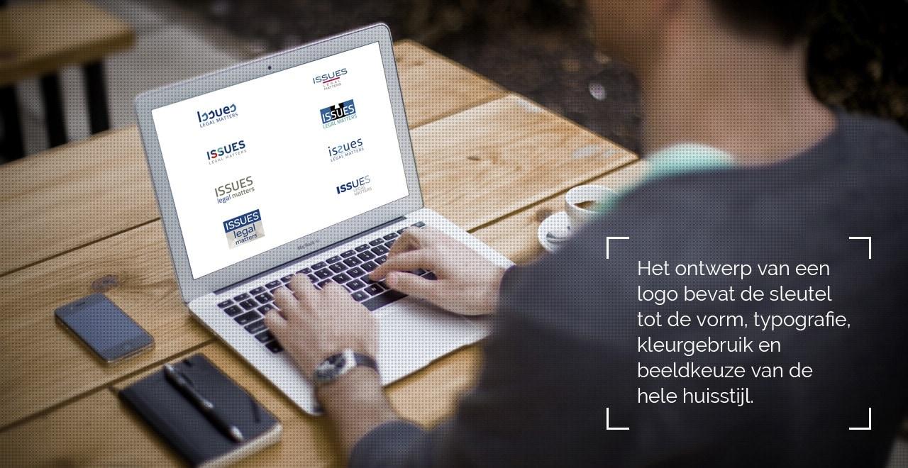 Logo ontwerp proces huisstijl grafisch ontwerp Ben Drost, Drost advies en creatie