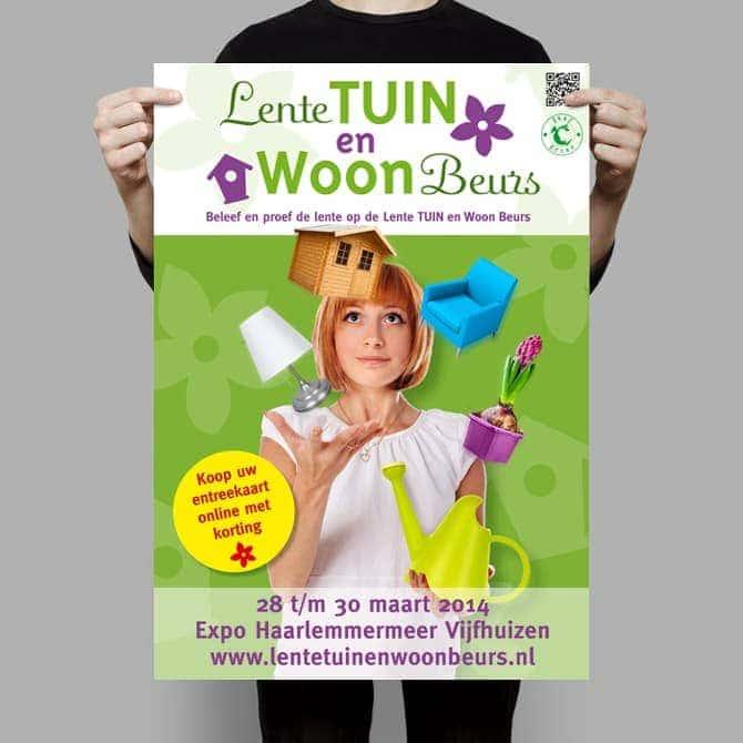 LTWB Lente Tuin en Woon Beurs poster ontwerp voor IJsselhallen - Ben Drost