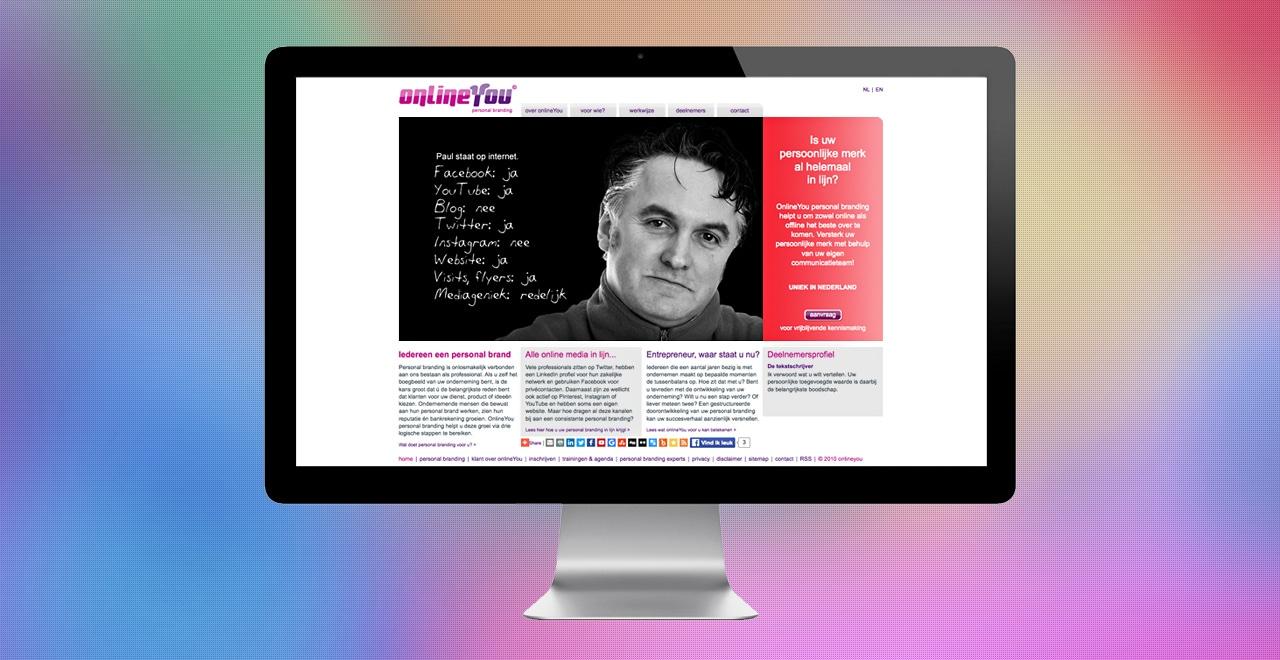 OnlineYou personal branding | webdesign Ben Drost