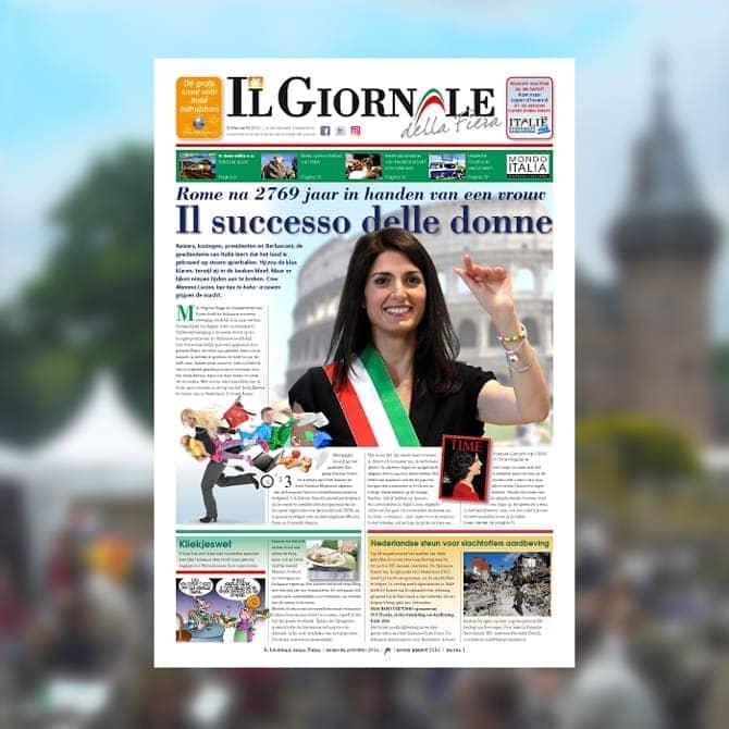 Il Giornale, krant over Italie | ontwerp/dtp-vormgeving marketingcommunicatie door Ben Drost - Marketingcommunicatie portfolio