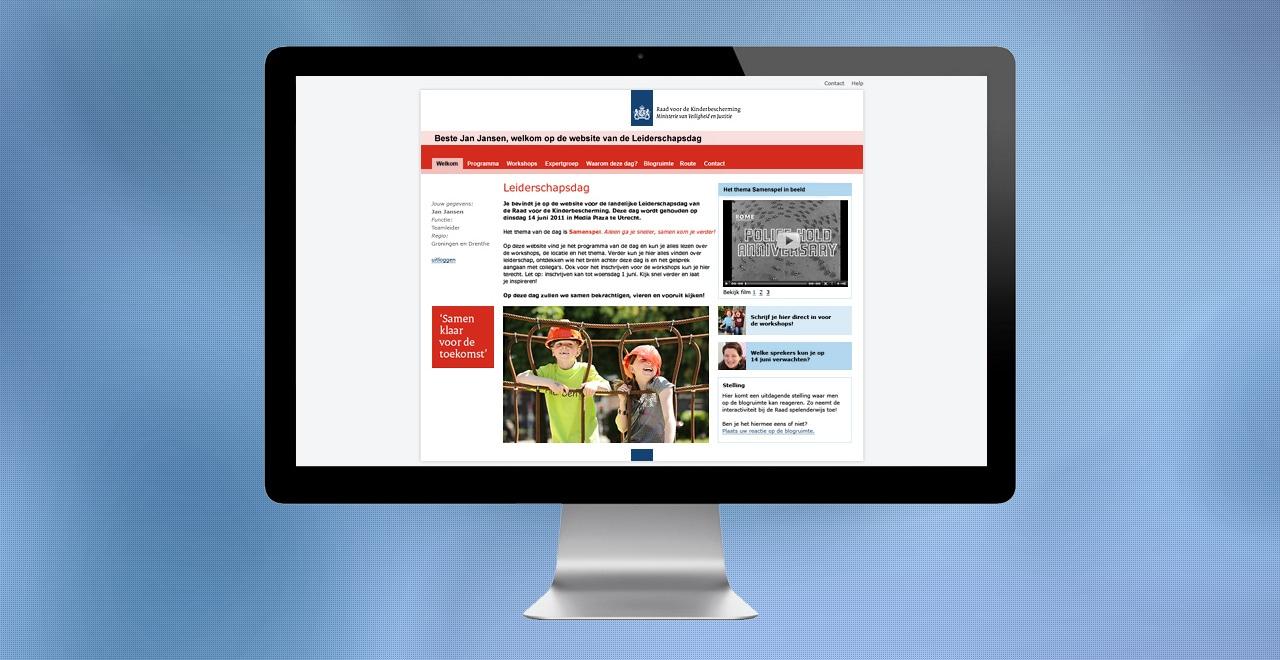 Raad voor de Kinderbescherming intern evenement | webdesign portfolio Ben Drost