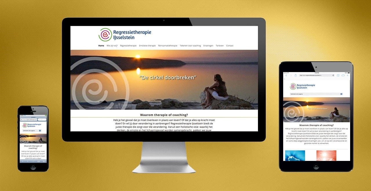 Regressietherapie IJsselstein | responsive webdesign portfolio Ben Drost