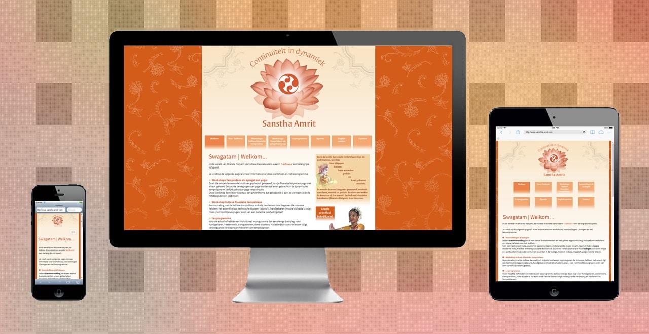 Sanstha Amrit opleidingen Indiase tempeldans | webdesign Ben Drost https://www.sanstha-amrit.com