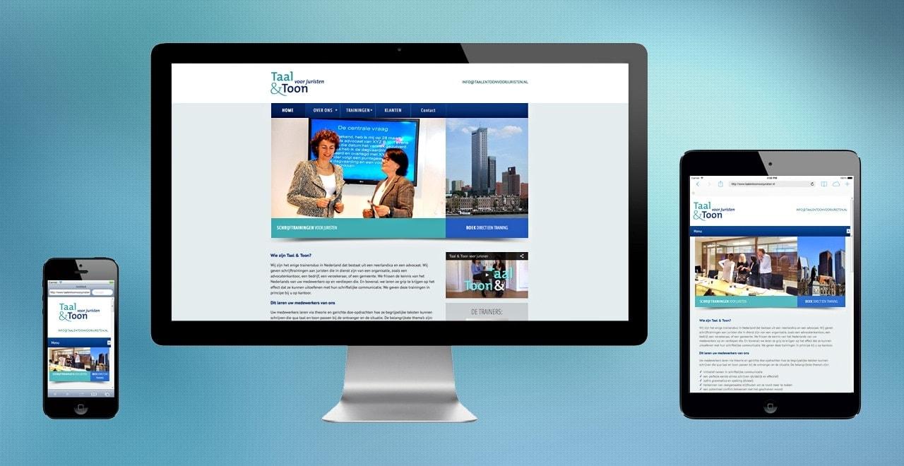 Taal en Toon voor juristen | webdesign portfolio Ben Drost