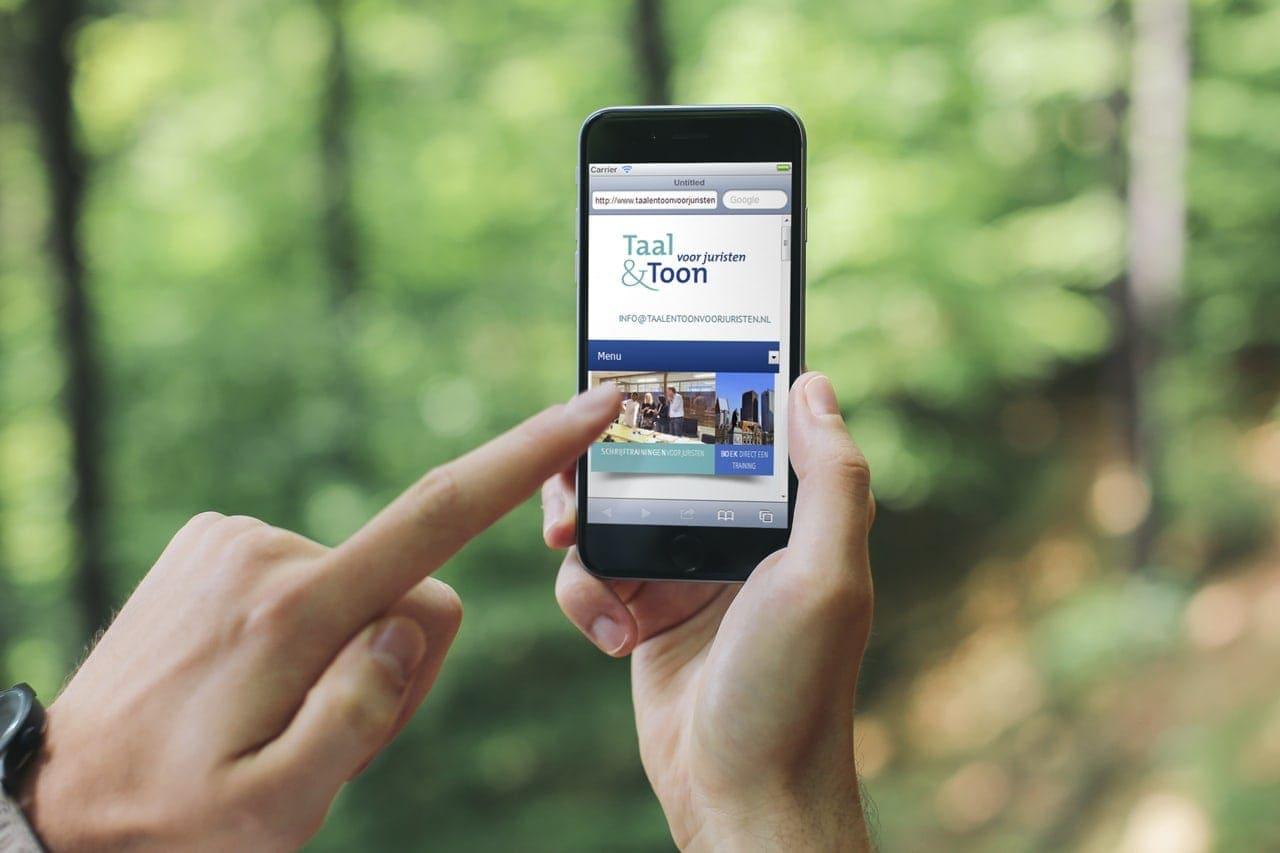 Responsive webdesign voor Taal & Toon voor juristen