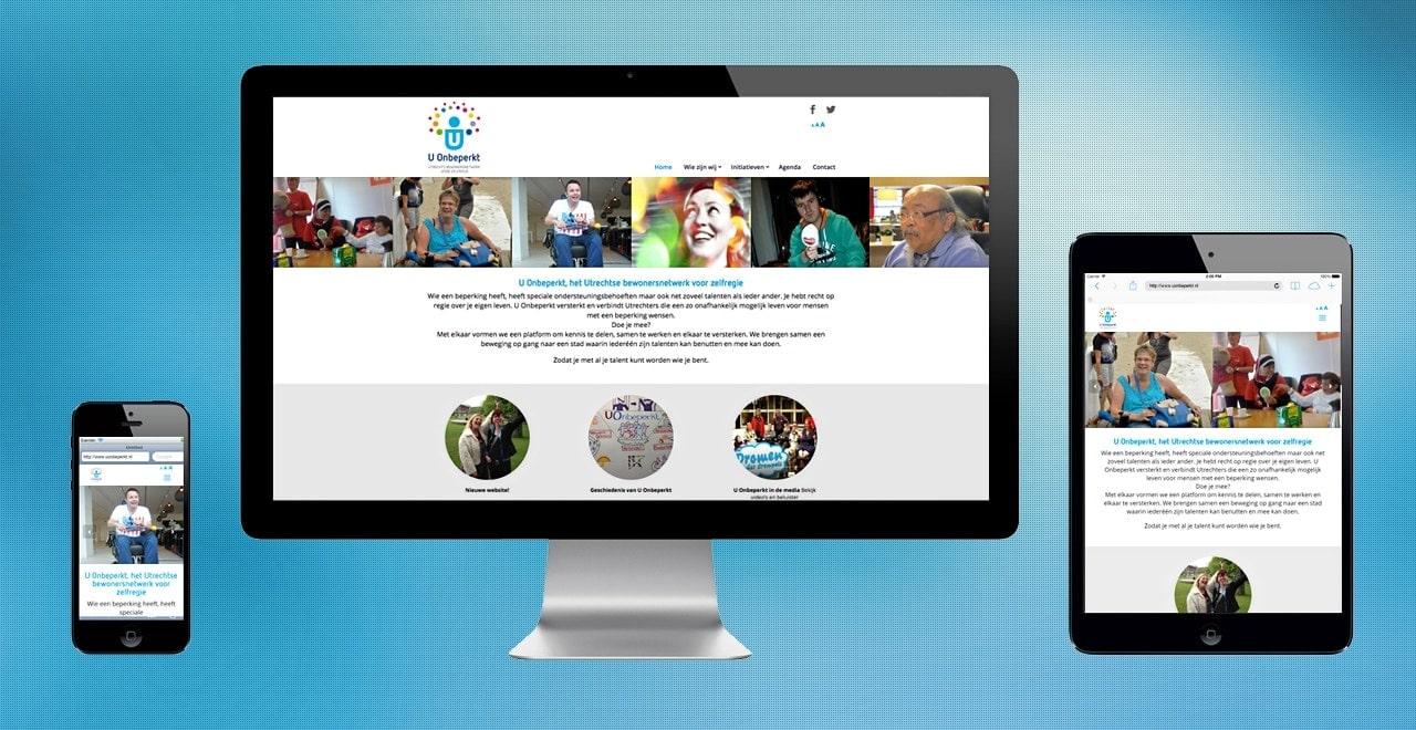 U Onbeperkt Utrechts bewonersnetwerk voor zelfregie | responsive webdesign portfolio Ben Drost