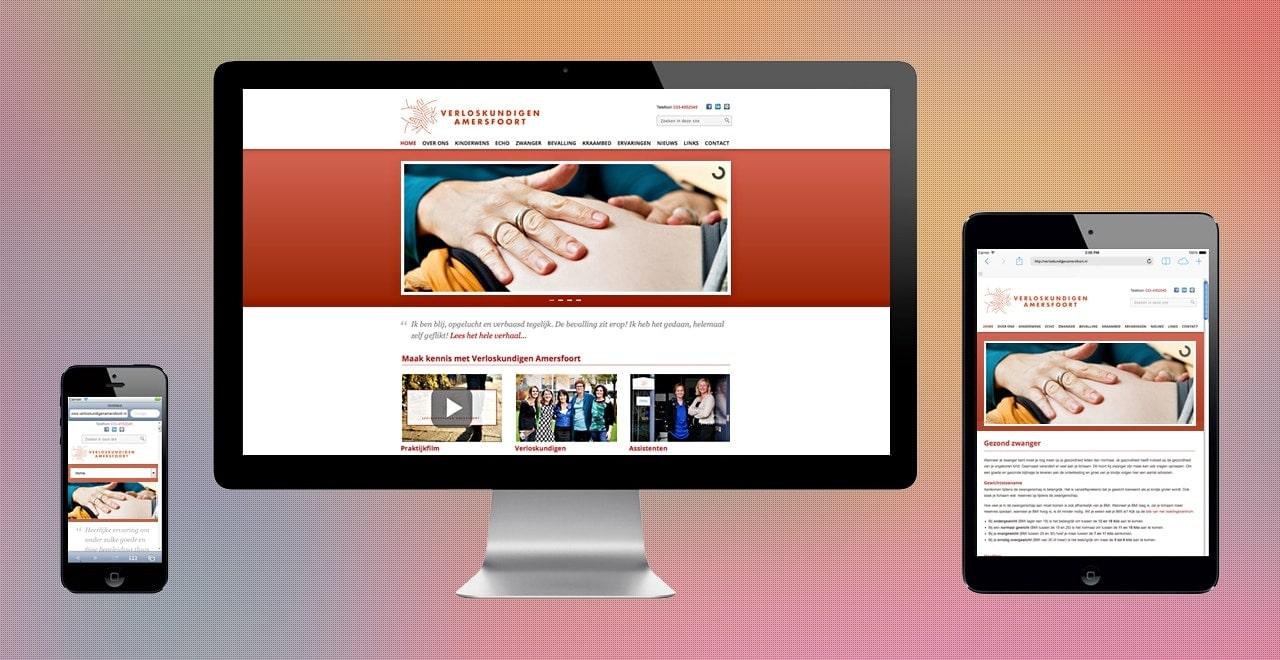 Verloskundigen Amersfoort | responsive webdesign Ben Drost