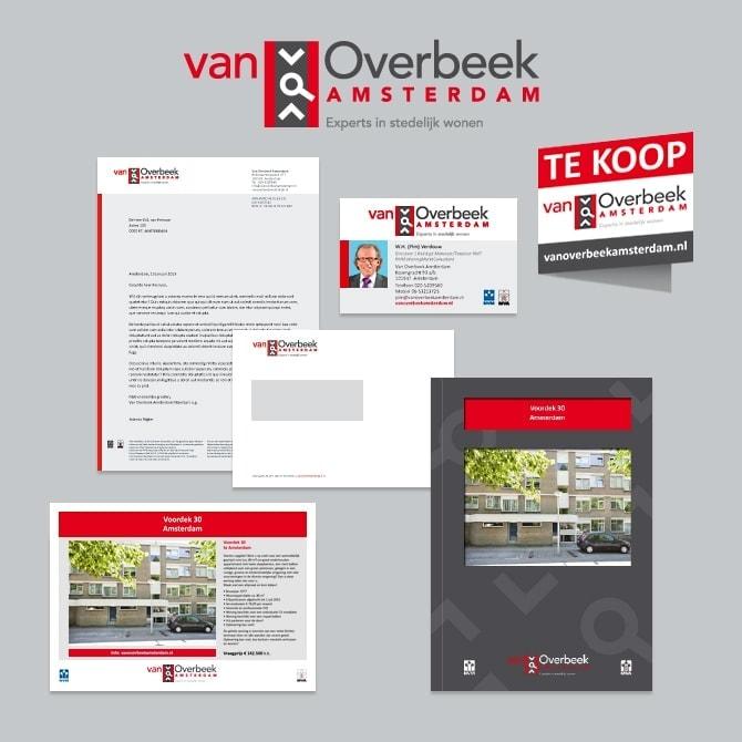 Van Overbeek Amsterdam makelaars huissijlontwerp Ben Drost - huisstijl portfolio