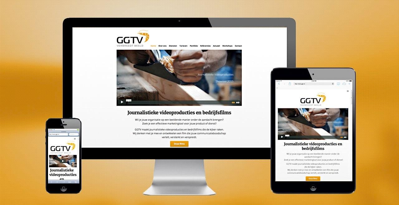 Webdesign portfolio Ben Drost GGTV videoproducties webdesign