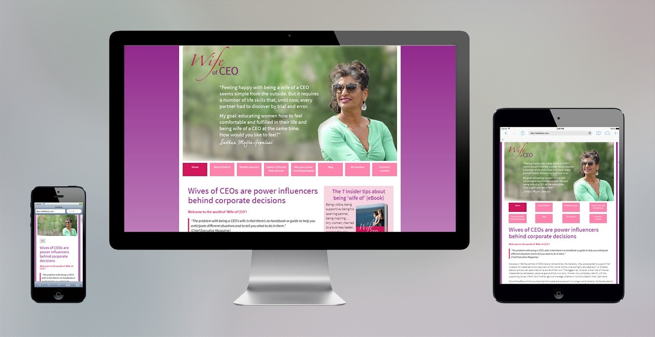 Wife of CEO / Vrouw van CEO online trainingsprogramma | responsive webdesign portfolio Ben Drost